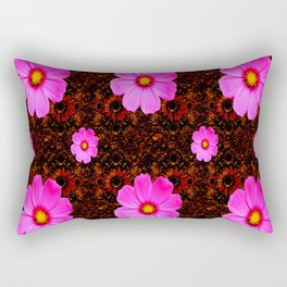 FUCHSIA PINK FLOWERS &  DARK ART Rectangular Pillow