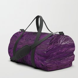 Dark Purple Firegrass Quad 1 by Chris Sparks Duffle Bag
