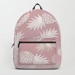 Blush Pineapple Pattern Backpack