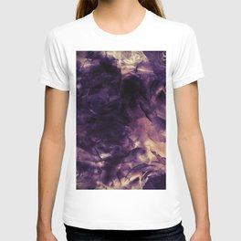 Vintage Deep Purple Bouquet of Roses & Cloulds T-shirt