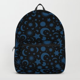 Celestial Kilim in Black + Teal Backpack