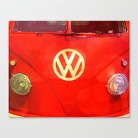 vw bus Canvas Prints featuring VW Bus by AndreaClare