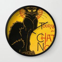 Le Chat Noir The Black Cat Art Nouveau Vintage Wall Clock