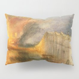 """J. M. W. Turner """"The Burning of the Houses of Lords and Commons""""(1834) Pillow Sham"""