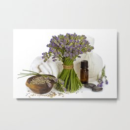 lavender spa Metal Print