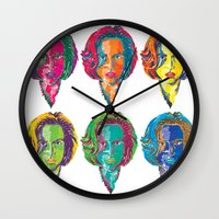 dana scully Wall Clocks featuring Dana Scully by Sam Del Valle