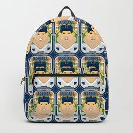 Baseball Blue Pinstripes - Rhubarb Pitchbatter - Sven version Backpack