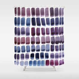 Brushstroke Colour Mixing 1 Shower Curtain