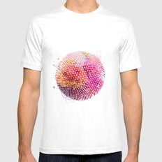 Dots MEDIUM White Mens Fitted Tee