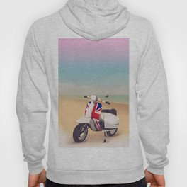 Union Jack Scooter Travel poster, Hoody