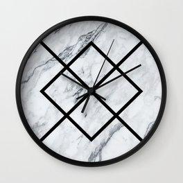 Marble Geometric Pattern Wall Clock