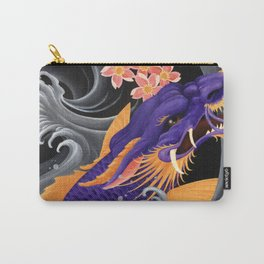 Purple Dragonkoi with Sakura Carry-All Pouch