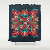 cyberpunk Shower Curtains featuring Summer Calaabachti Heart by Obvious Warrior