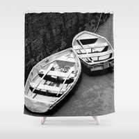 boats Shower Curtains featuring Boats by Vishal Wadhwani