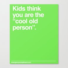 Cool Old Person Canvas Print