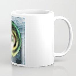 Green Planet In A Blue Sky Coffee Mug