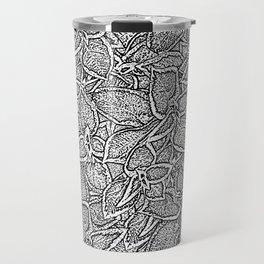 Coleus leaves pattern black and white Travel Mug