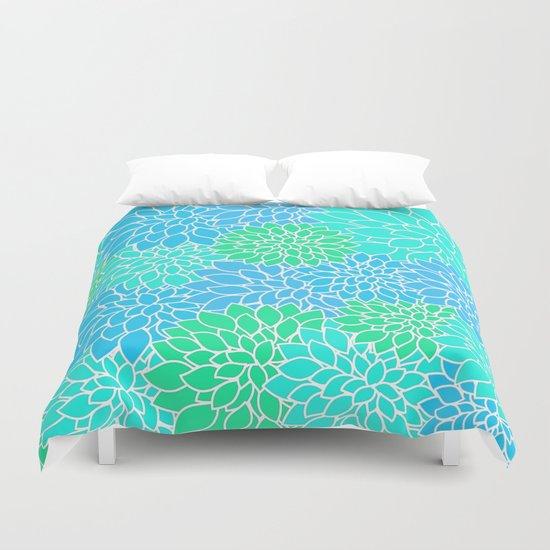 Blue & Green Pattern Duvet Cover