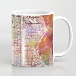 Milwaukee map Wisconsin Coffee Mug