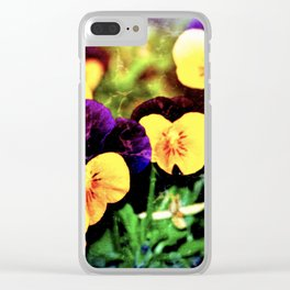 Pansies 10 Clear iPhone Case