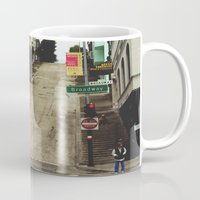 broadway Mugs featuring Broadway by Laney Vela