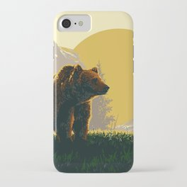 Early Morning Grizzly Bear iPhone Case