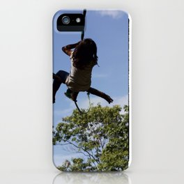 Girl on Swing iPhone Case