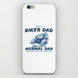Biker DAD iPhone Skin