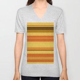 minimalistic horizontal stripes pattern ee Unisex V-Neck