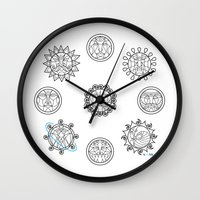astrology Wall Clocks featuring Astrology 3 by Karthik
