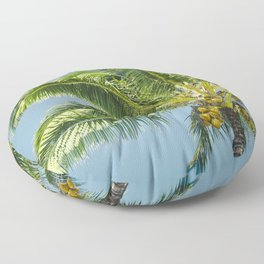 keanae hawaiian coconut palm Floor Pillow