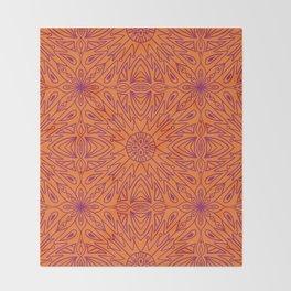 Symmetry Orange Throw Blanket