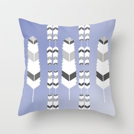 Ultravioletfeatherdesign Throw Pillow