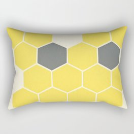 Yellow Honeycomb Rectangular Pillow