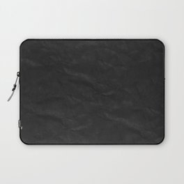 LATE unique midnight black faux wrinkled fabric or paper Laptop Sleeve
