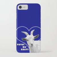 totes iPhone & iPod Cases featuring Totes Ma Goats - Blue by BACK to THE ROOTS
