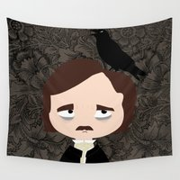 edgar allan poe Wall Tapestries featuring Edgar Allan Poe by Creo tu mundo