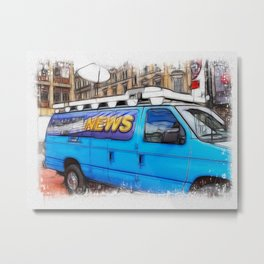 News Hound Metal Print