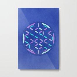 Flower of life 2017 blue Metal Print