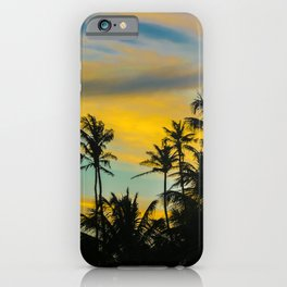Tropical Scene at Sunset Time iPhone Case