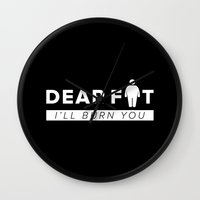 fat Wall Clocks featuring Dear Fat by ARI RIZKI