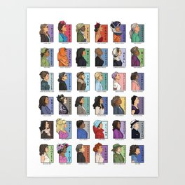 She Series - Real Women Collage 1-4 Art Print
