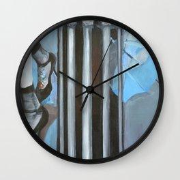 Blue Umbrella Wall Clock