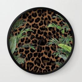 Jungle Leopard Wall Clock