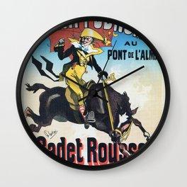 Hippodrome Paris Wall Clock