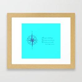 Rememberance, teal Framed Art Print