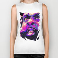 nba Biker Tanks featuring JAMES HARDEN: NBA ILLUSTRATION V2 by mergedvisible