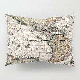 Map Of America 1614 Pillow Sham