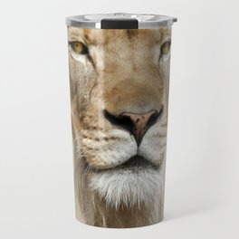 Lion Portrait Travel Mug