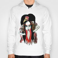 devil Hoodies featuring Devil by Miss Midnight